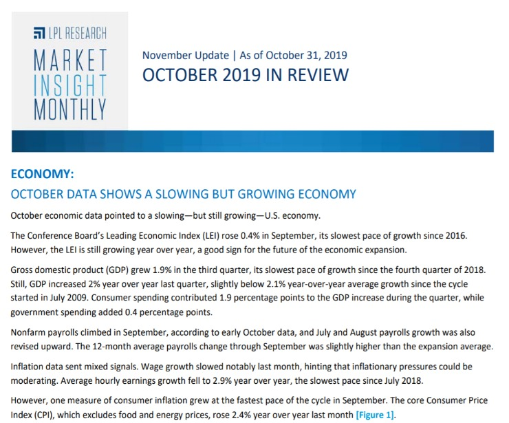 Market Insight Monthly   October 2019